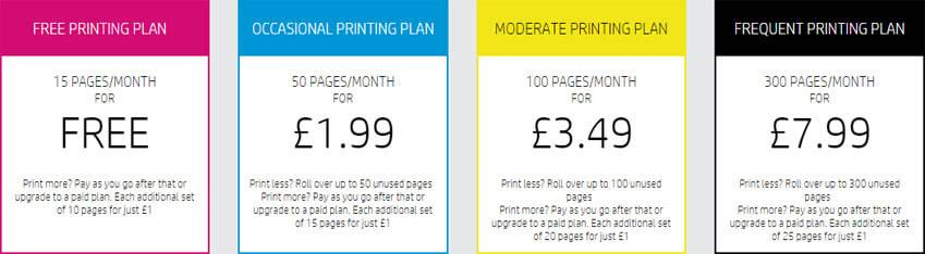 HP Instant Ink Pricing