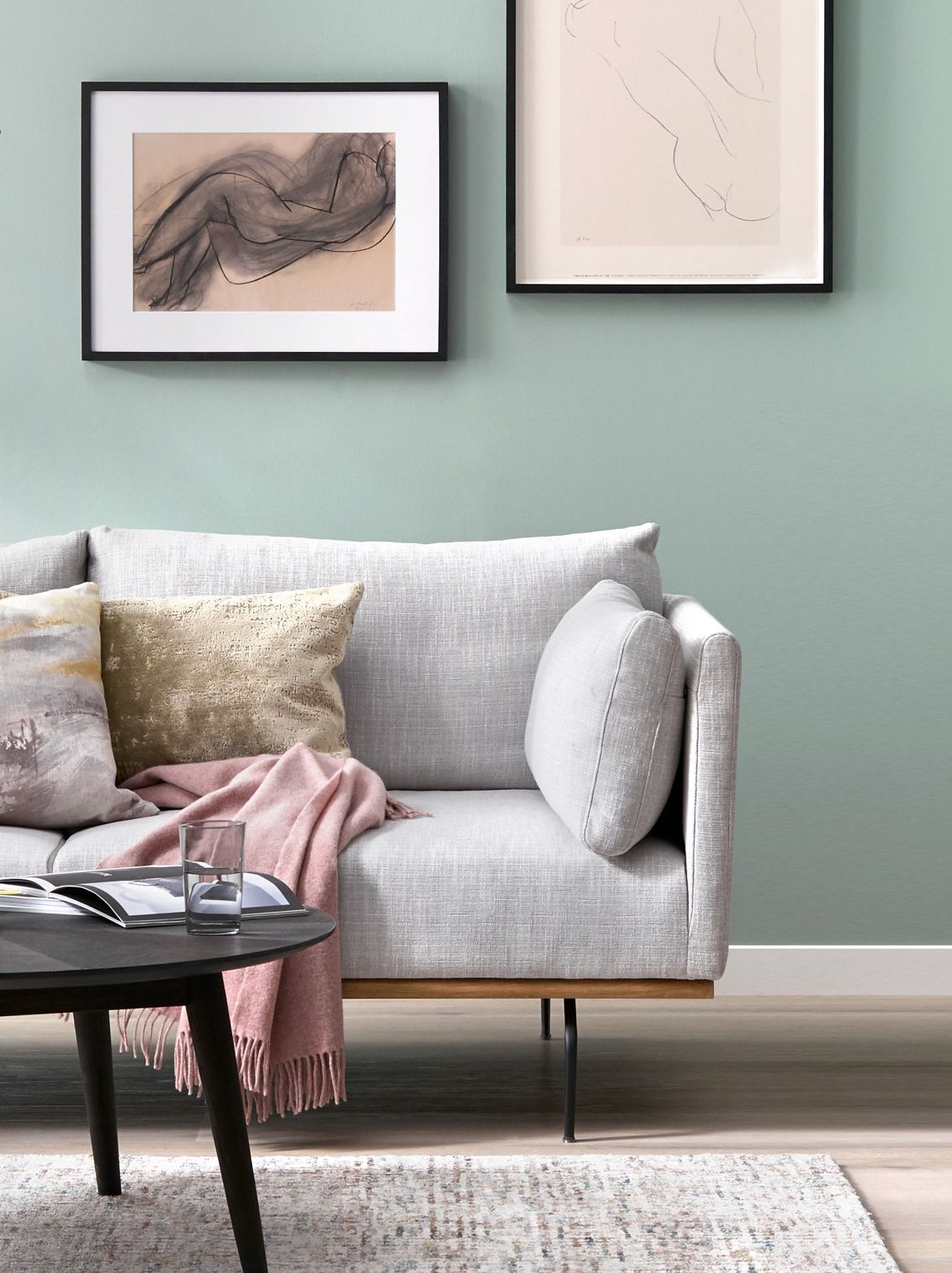 Create a calming space with pastel hues and soft watercolour prints