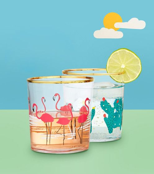 Summer drink glasses