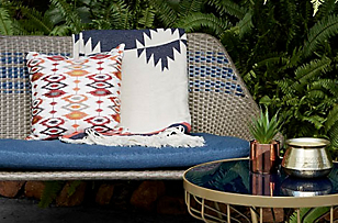 Moroccan inspired outdoor furniture
