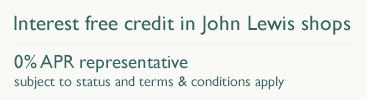 Interest free credit in John Lewis shops