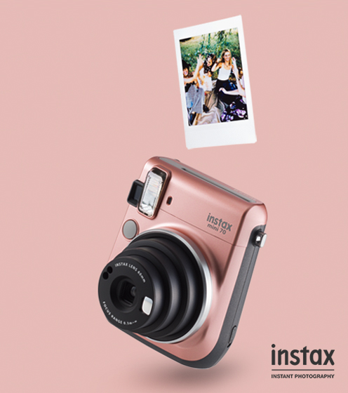 Instax Mini 70 in rose gold