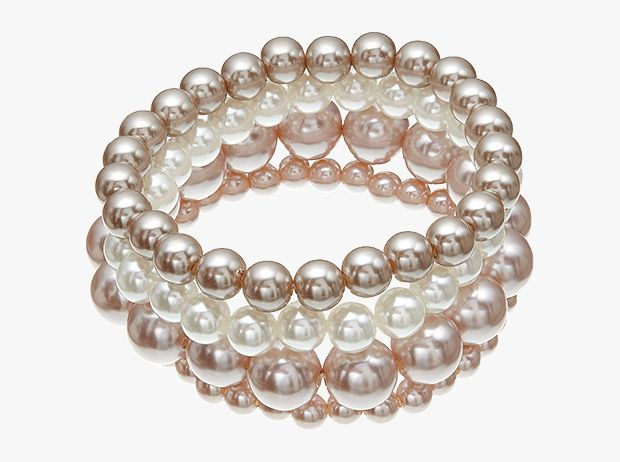 Multi-row faux pearl bracelet