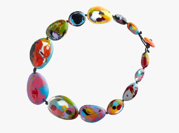 Resin Riverstone Necklace