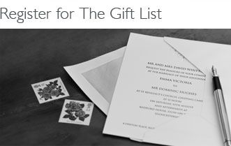 Register for Gift List Manage your List Buy a gift