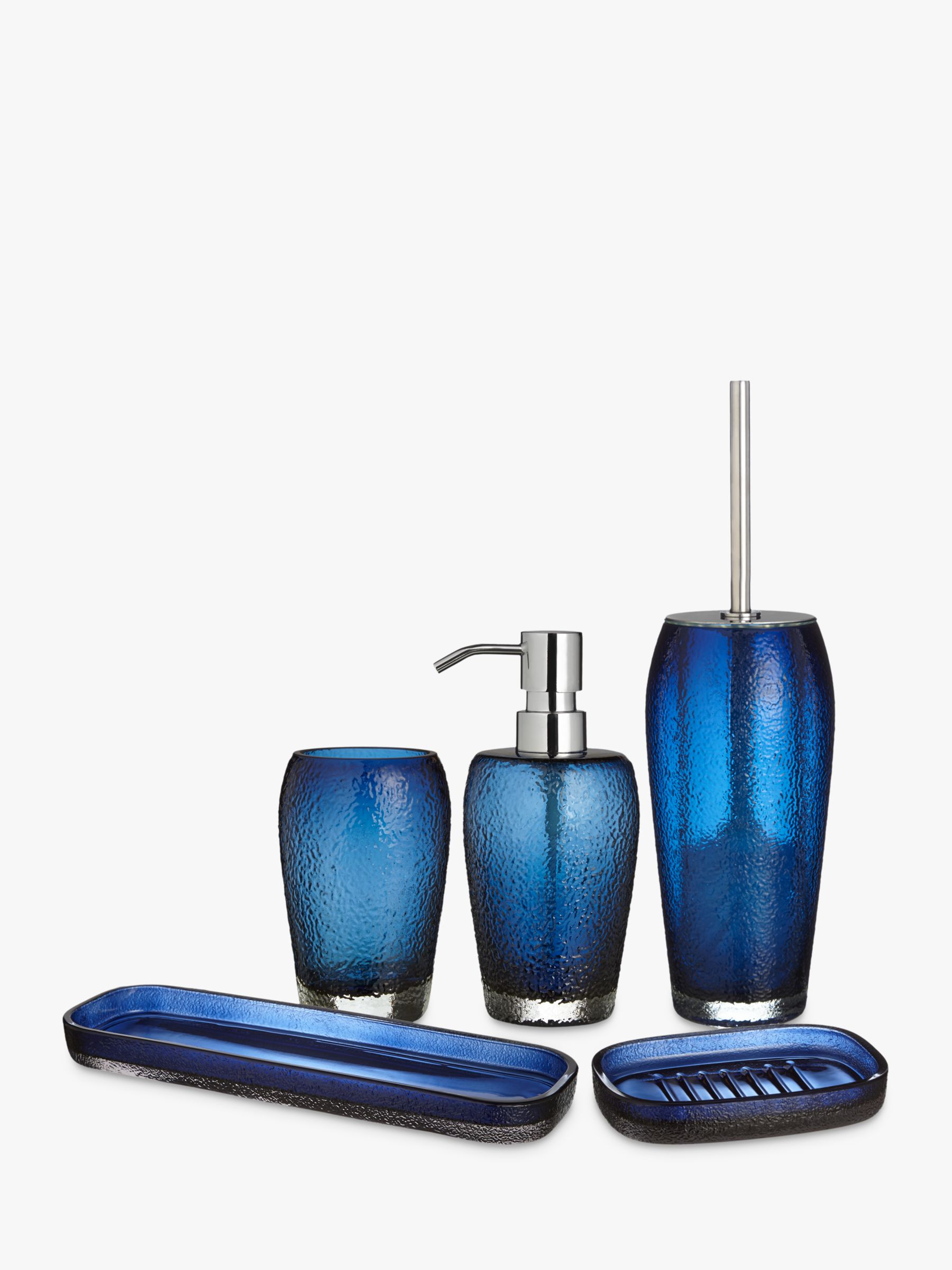 John Lewis Glass Dark Nordic Blue, Bathroom Accessories