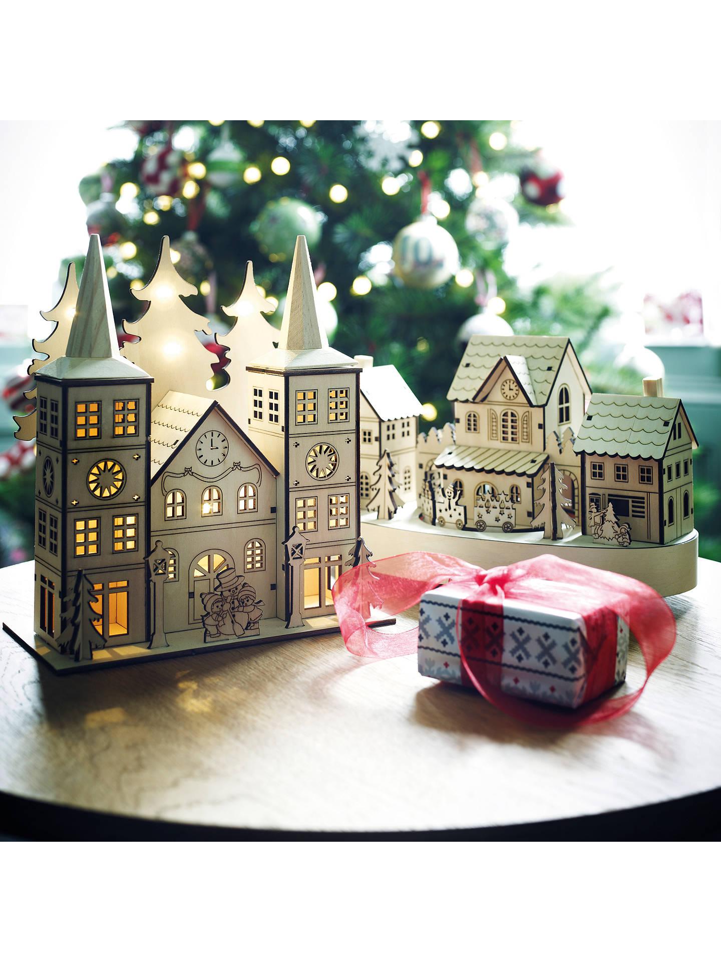 Christmas Advent House.John Lewis Led Wooden Advent House At John Lewis Partners