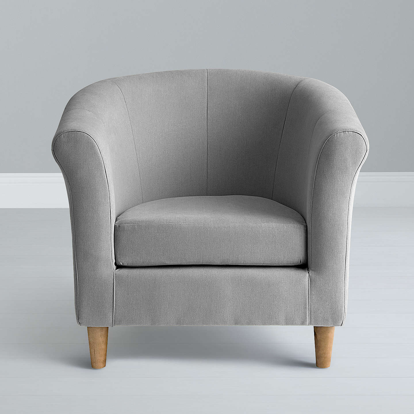 ... BuyJohn Lewis The Basics Juliet Armchair, Light Leg, Grey Online At  Johnlewis.com