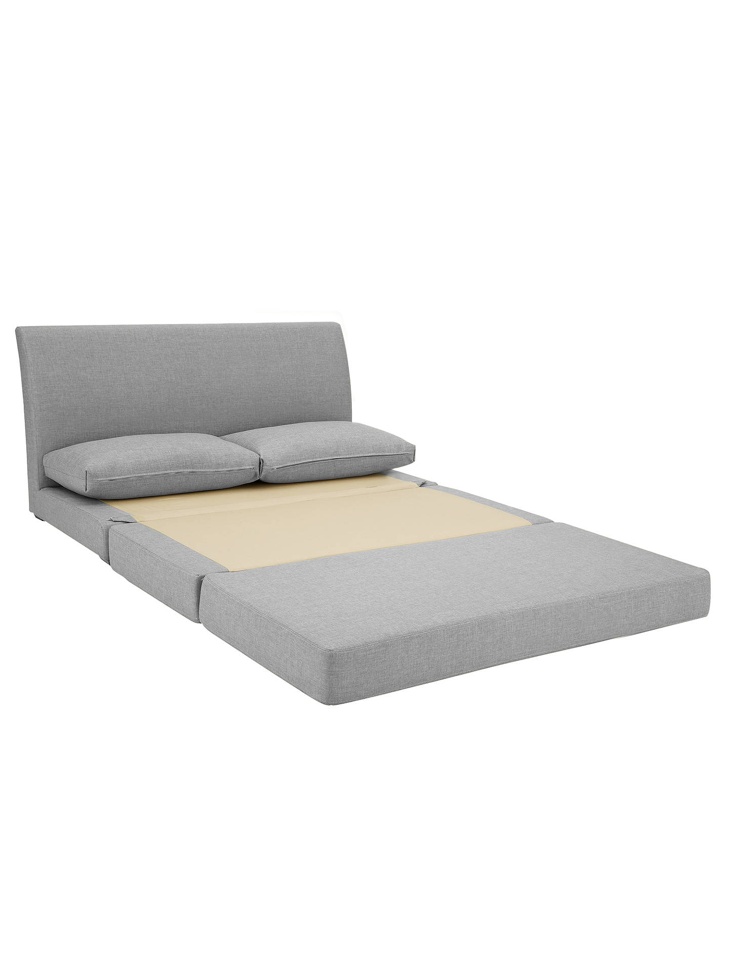 BuyJohn Lewis & Partners Kip Small Double Sofa Bed with Foam Mattress, Light Leg, Aquaclean Matilda Teal Online at johnlewis.com