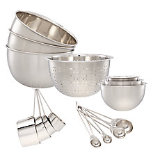 Buy John Lewis Stainless Steel Kitchen Essentials Set, 15 Piece Online at johnlewis.com