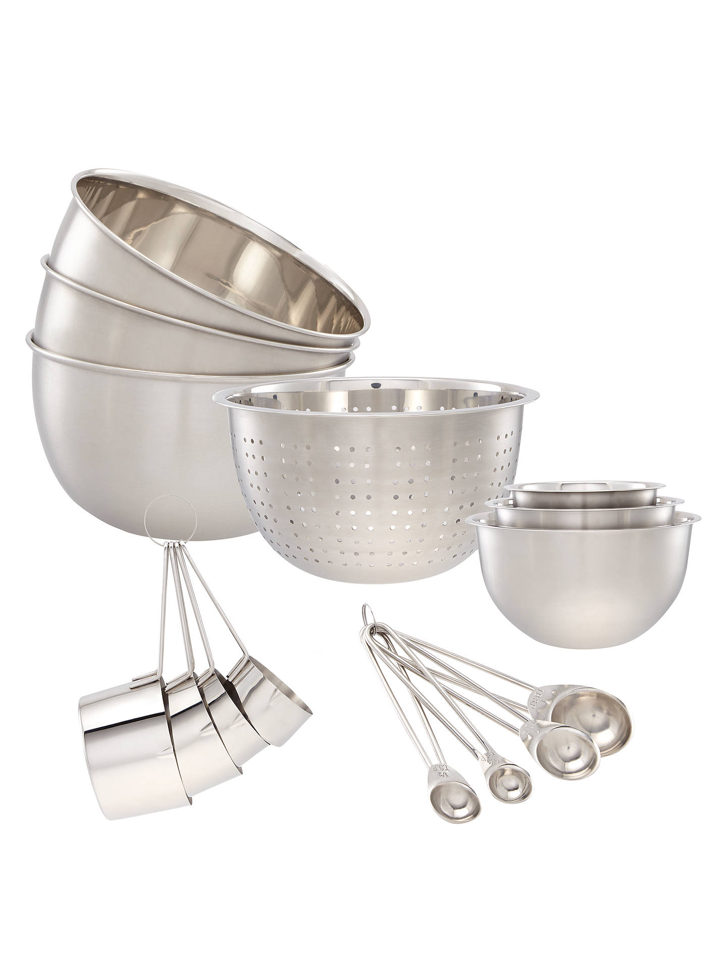 John Lewis Partners Stainless Steel Kitchen Essentials Set 15