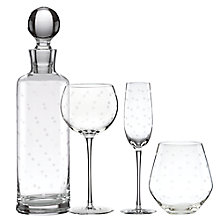 Buy kate spade new york Larabee Dot Etched Glassware Online at johnlewis.com