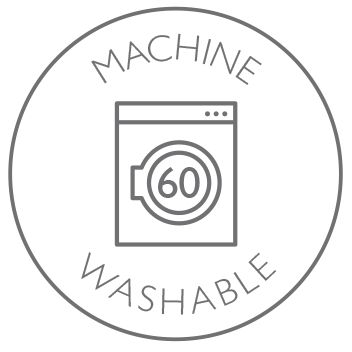 Machine washable at 60 degrees