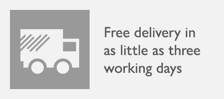 Fast, free delivery available in 3 working days - depending on your postcode