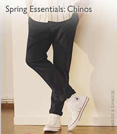 Spring Essentials: Chinos - male model