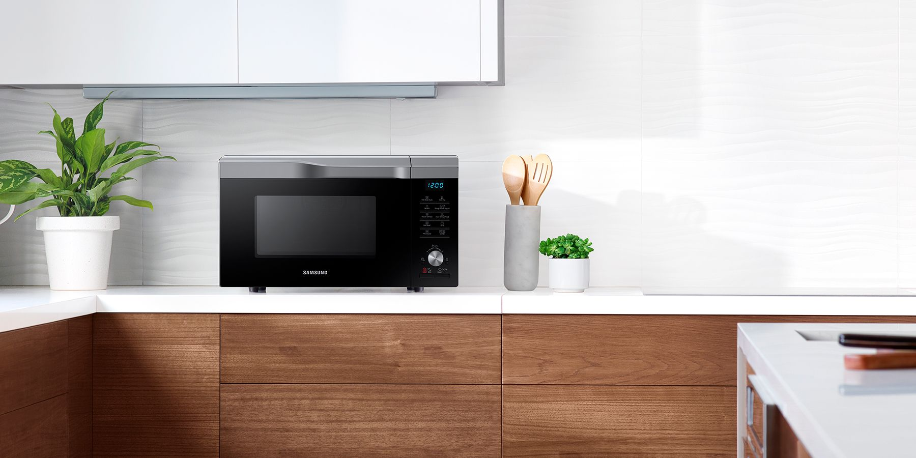 Microwave Oven In A Kitchen