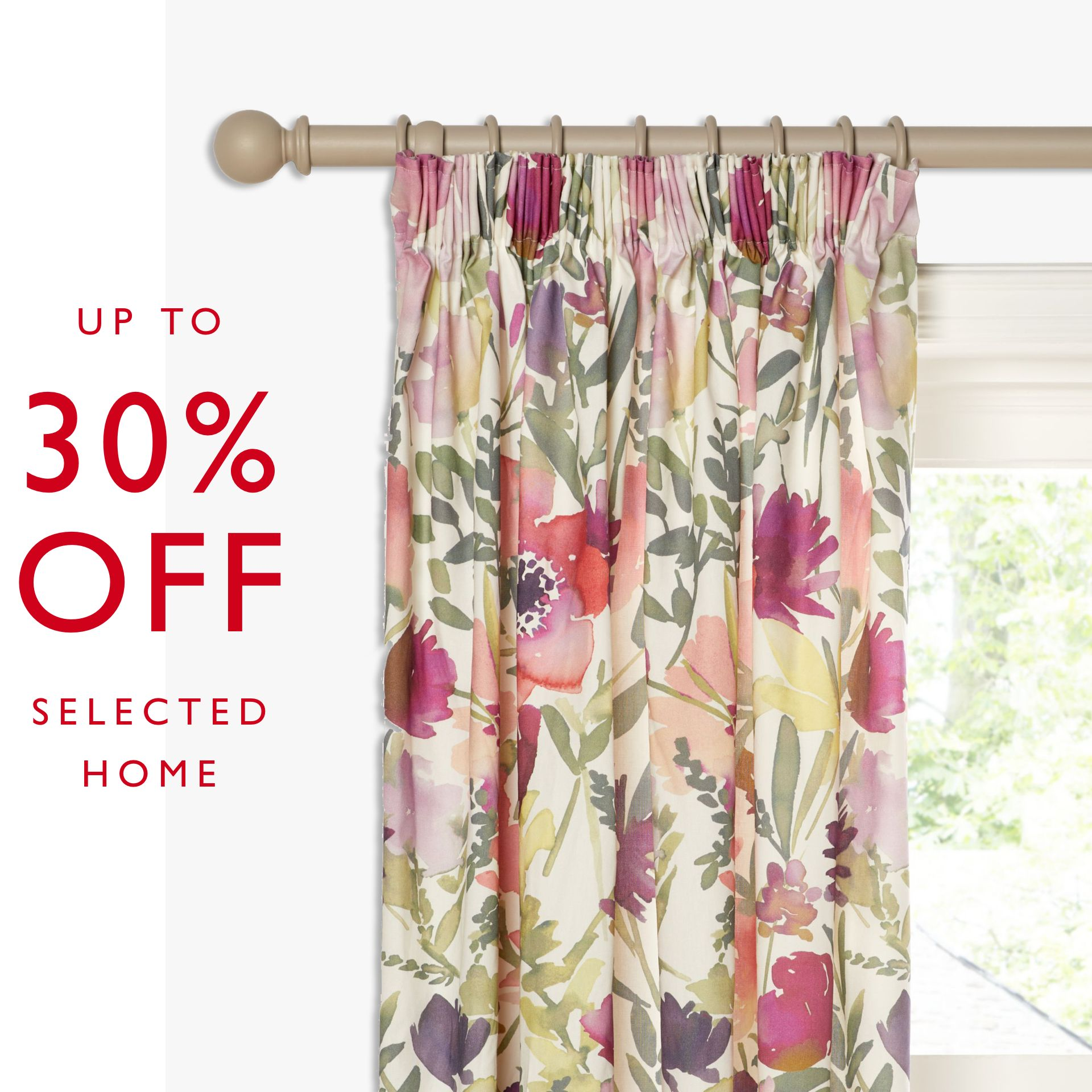 Up to 30% off selected Home & Garden