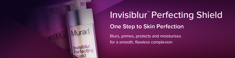 Invisiblur perfecting shield. One step to skin perfection. Blurs, primes, protects and moisturises for a smooth, flawless complexion