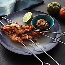 Barbecue Prawns with Satay Dip