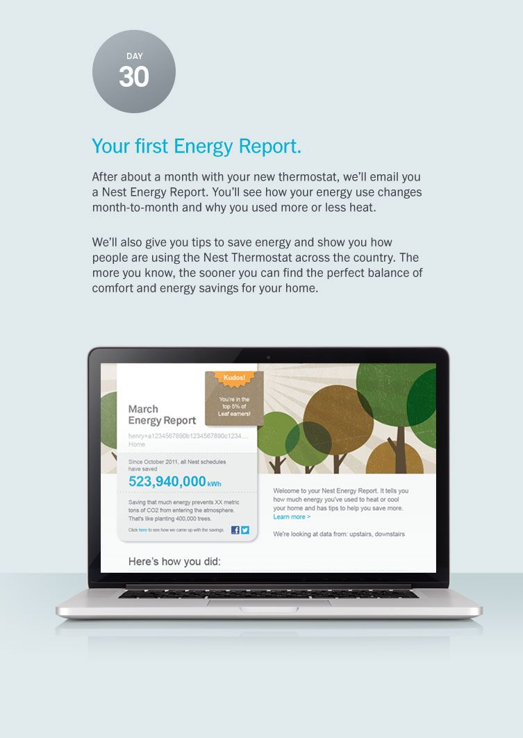Your first energy report