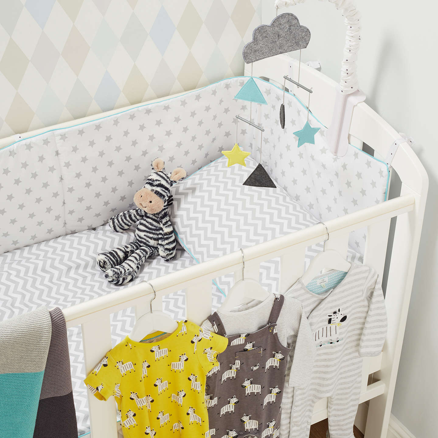 Buyjohn Lewis Baby Star Bumper, Grey Online At Johnlewiscom