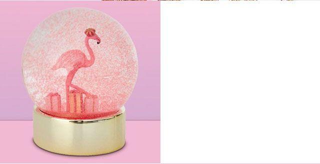 John Lewis Ostravia Flamingo Snow Globe