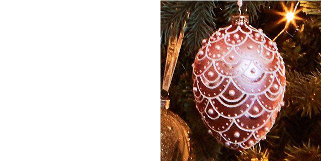 John Lewis Ostravia Faberge Egg Bauble, Pink