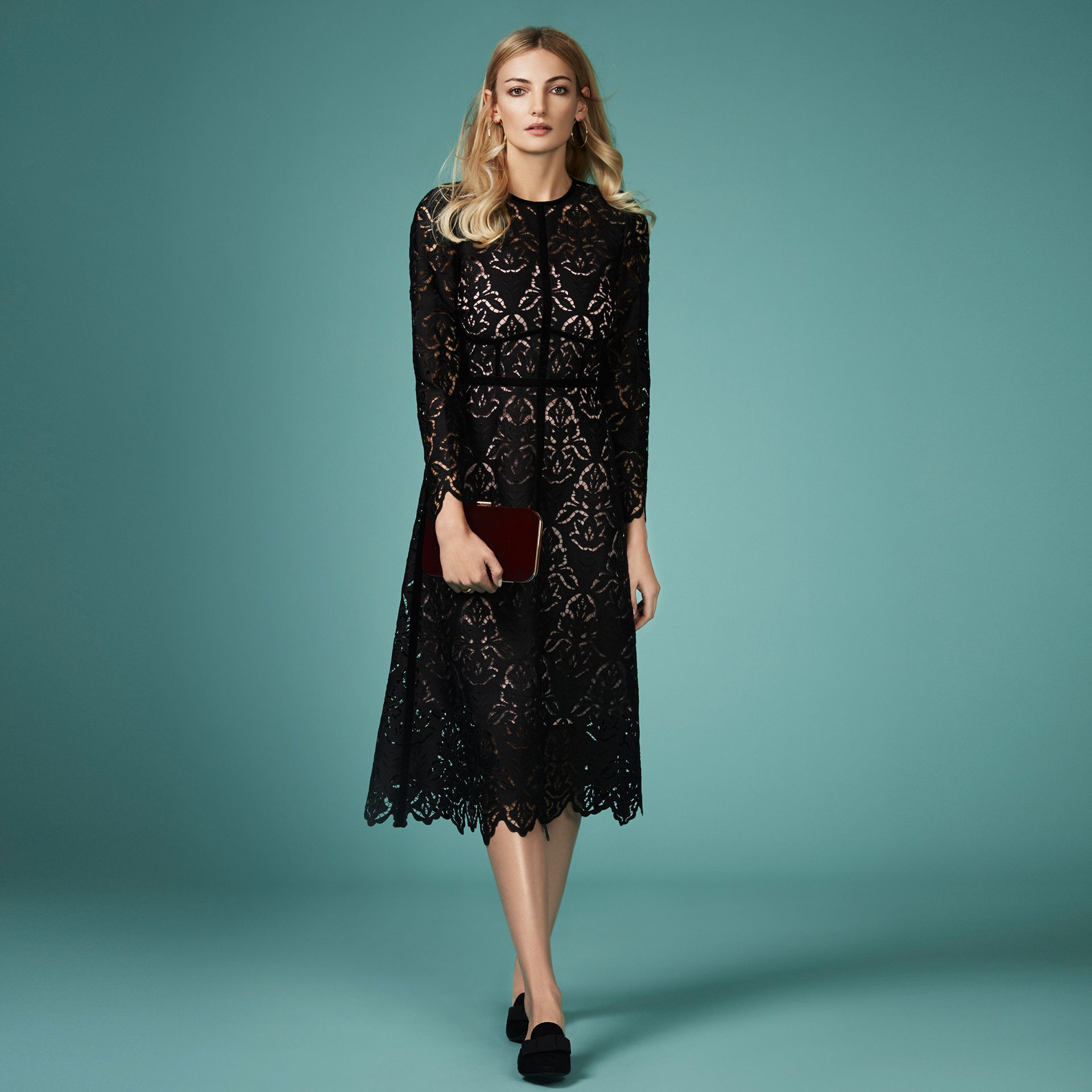L.K. Bennett Elouise Lace Dress, £425