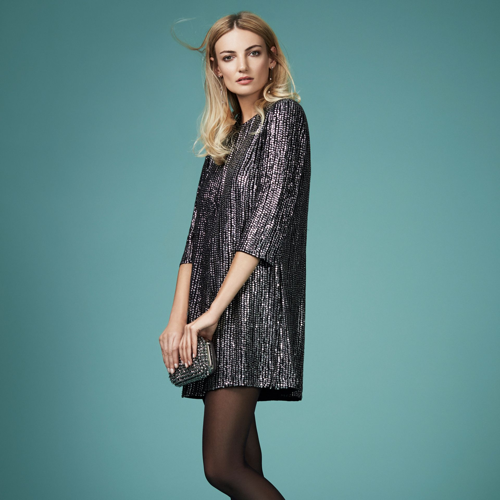 French Connection Desiree Disco Playsuit, £190
