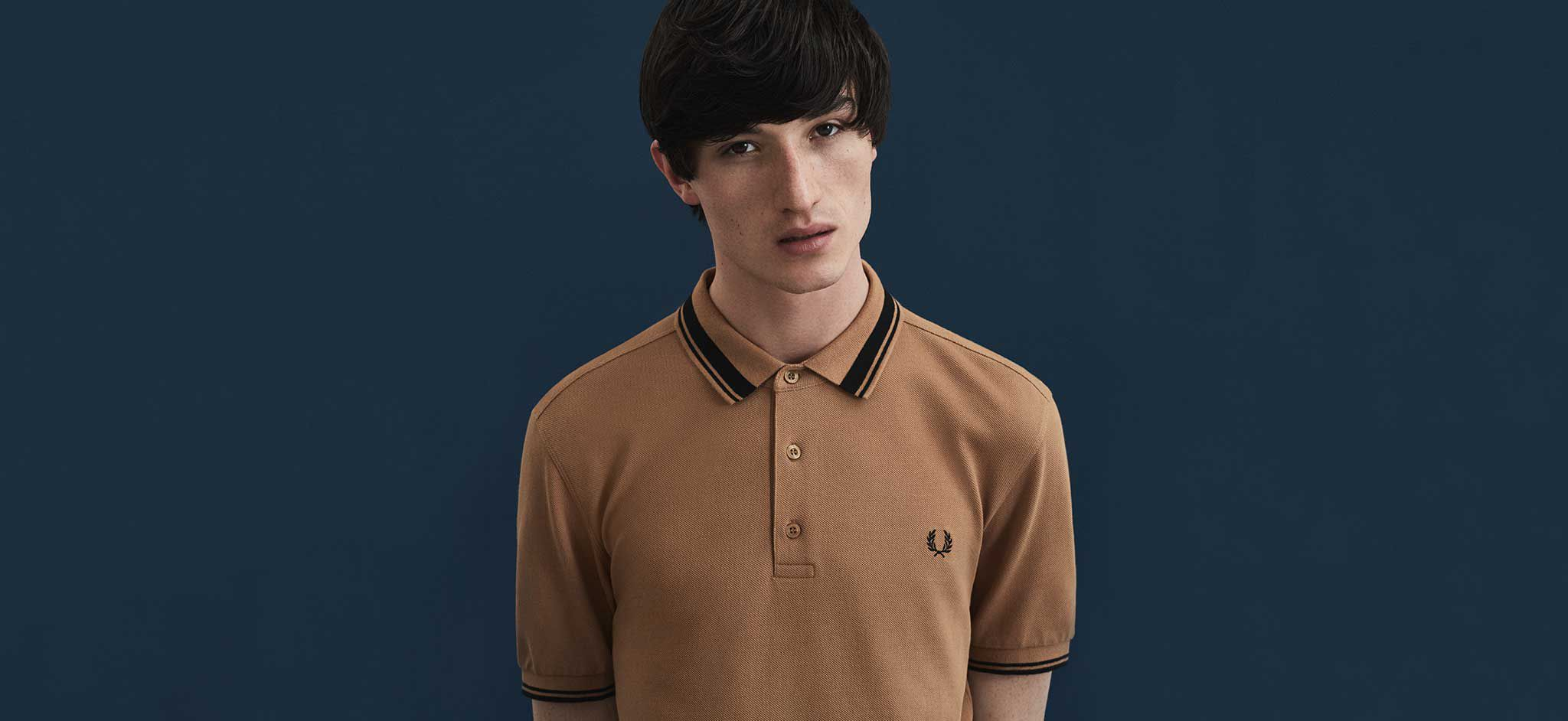 Fred Perry John Lewis Partners Tendencies Longshirt Plain Navy Shirt The Polo