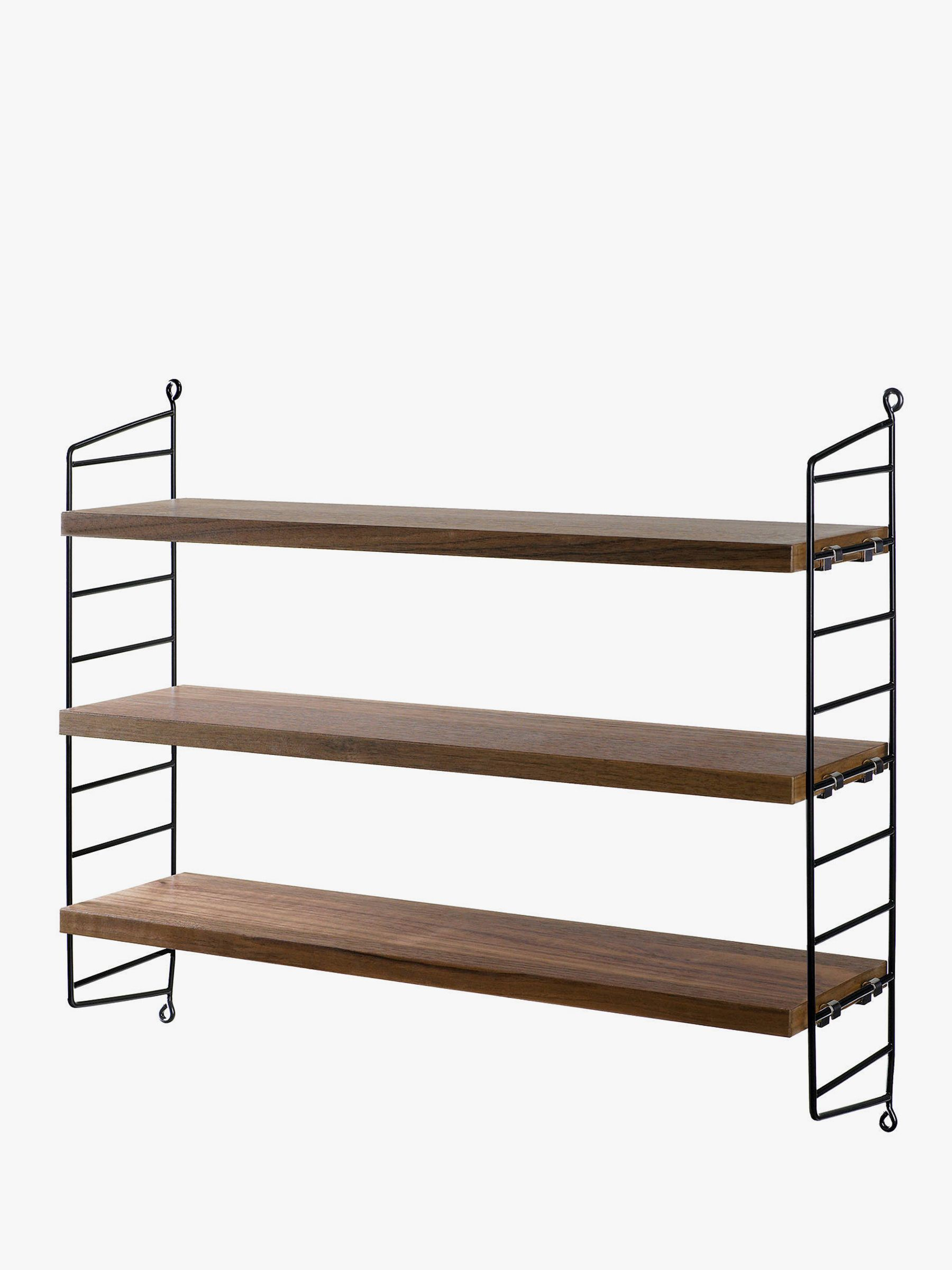 String Pocket Shelves, Walnut