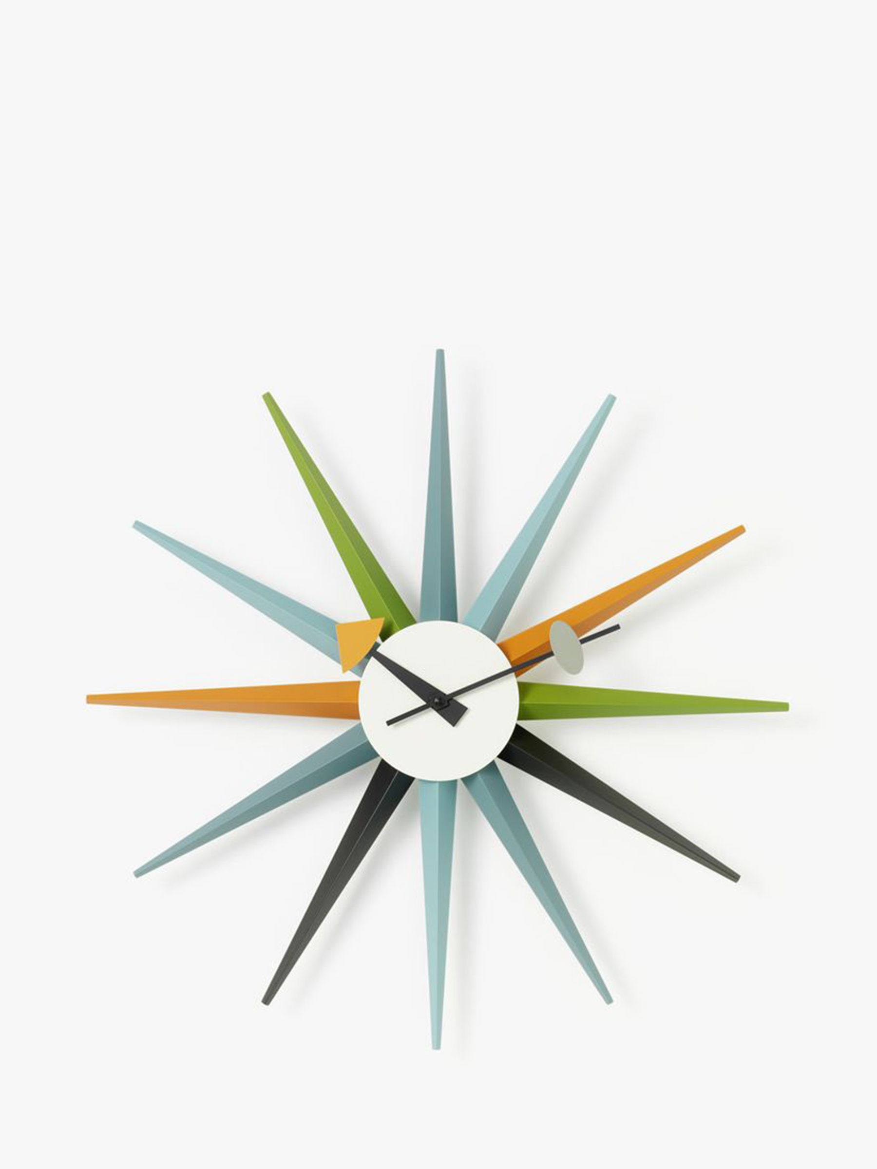 Vitra George Nelson Sunburst Quartz Analogue Wall Clock, 47cm, Multi