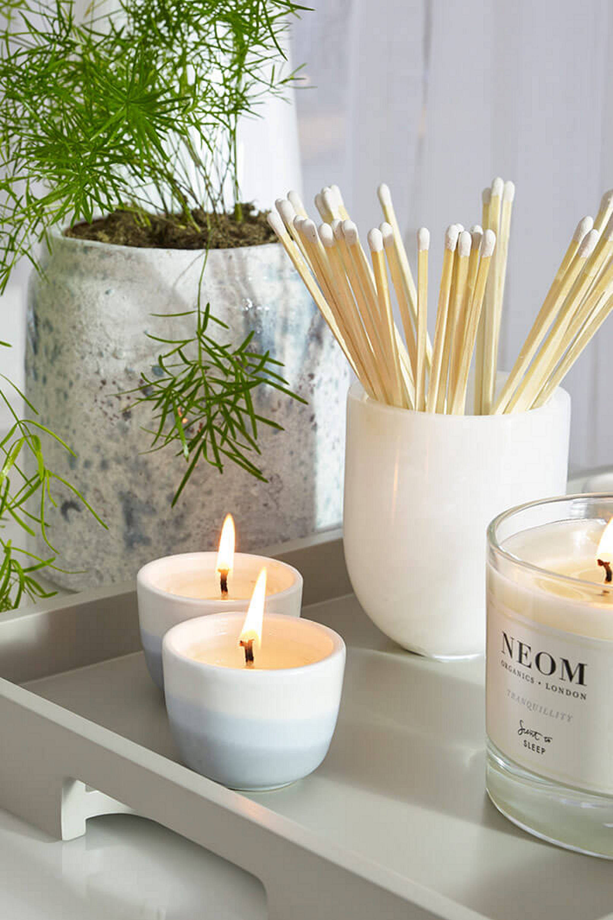 Room for Wellbeing: Candles, plant pot