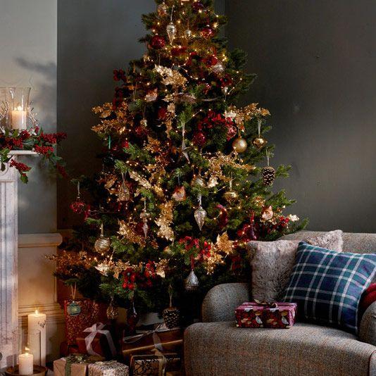 John Lewis Ruskin House 7ft Pine Christmas Tree £195.00. John Lewis Ruskin  House Fox Bauble £3.50. John Lewis Ruskin House Acorn Bauble £2.50