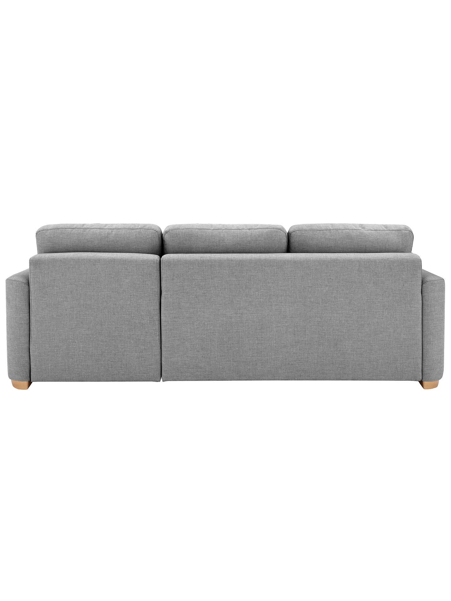 John Lewis & Partners Sacha Large Sofa Bed with Foam Mattress, Light Leg, Erin Grey
