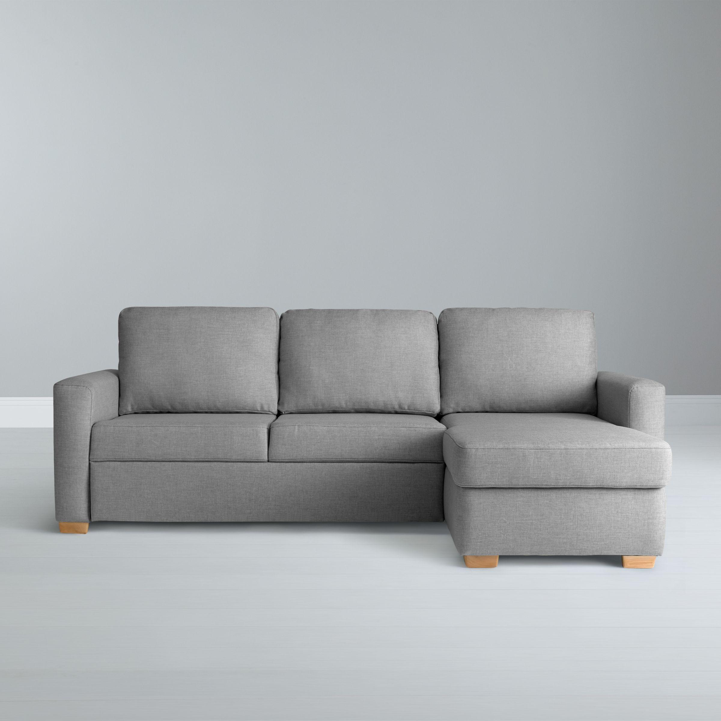 Picture of: John Lewis Partners Sacha Large Sofa Bed With Foam Mattress Light Leg Erin Grey At John Lewis Partners