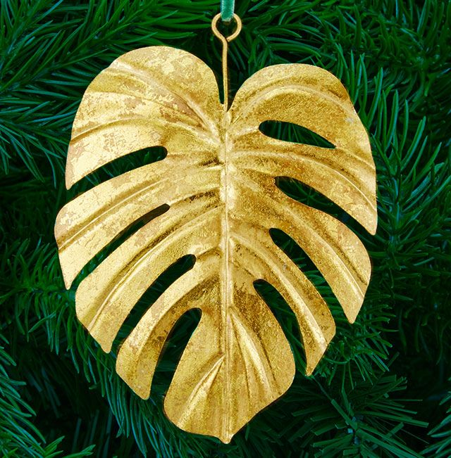 John Lewis Shangri-La Palm Tree Decoration, Gold
