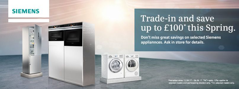 Trade in and save up to £100 this Spring