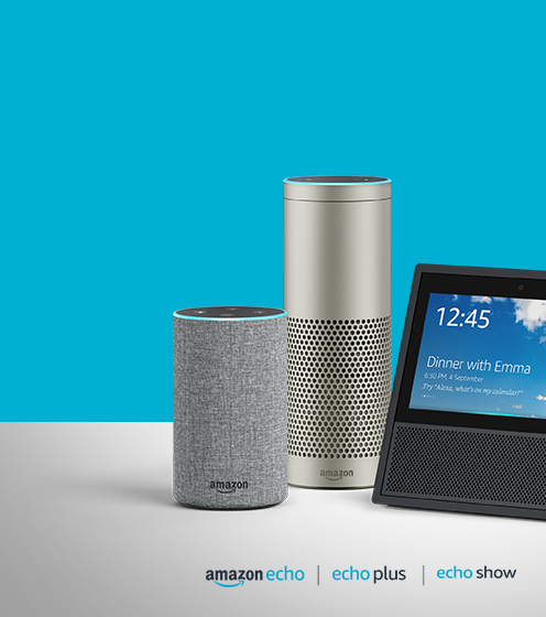 Amazon Echo with voice control
