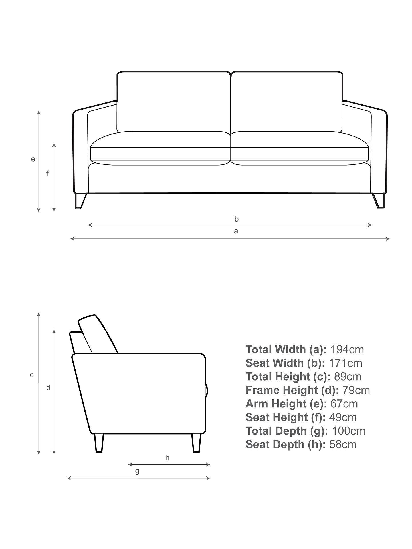 John Lewis & Partners Bailey Large 3 Seater Sofa