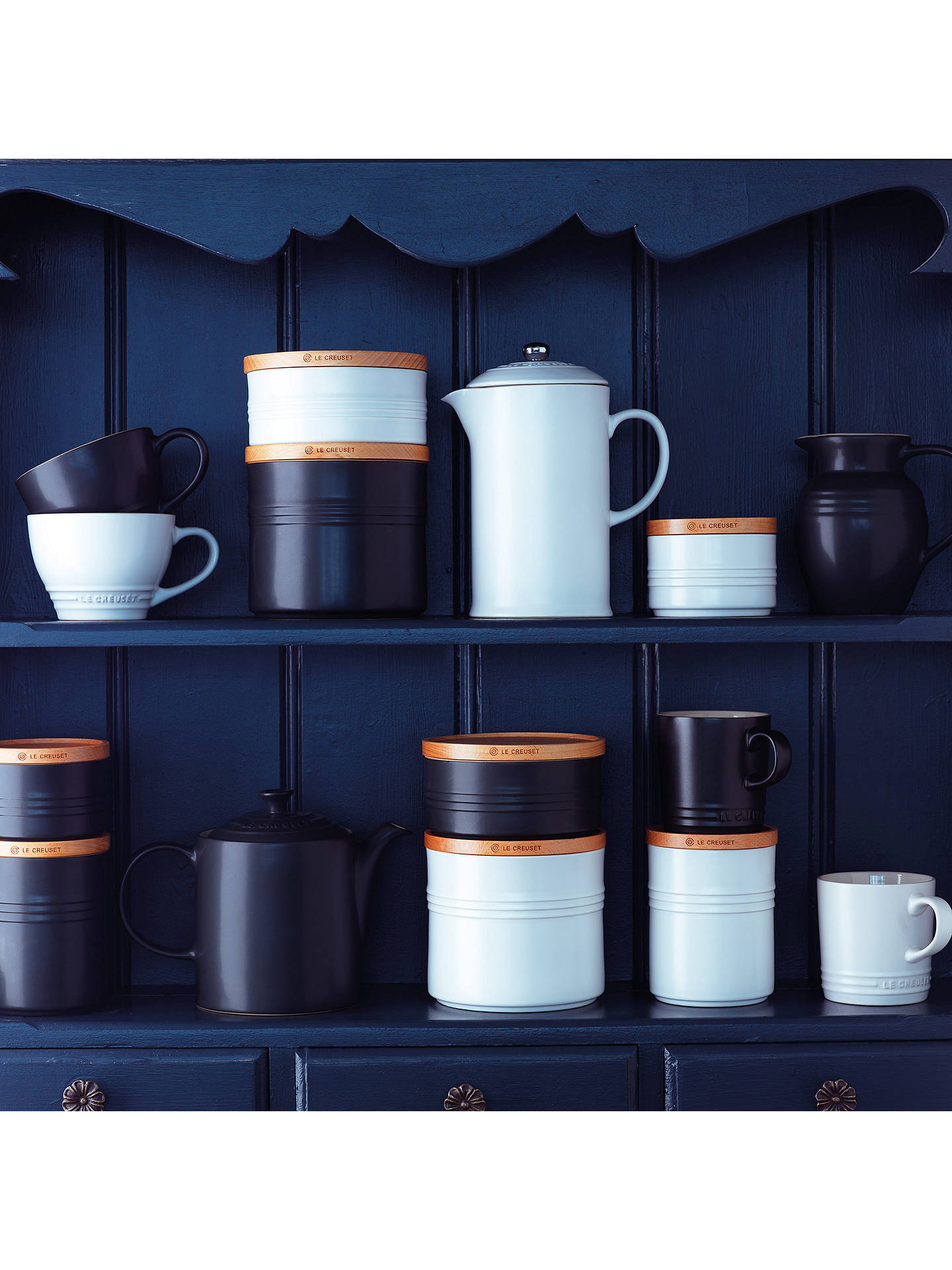 Buy Le Creuset Stoneware Utensil Jar, Volcanic Online at johnlewis.com