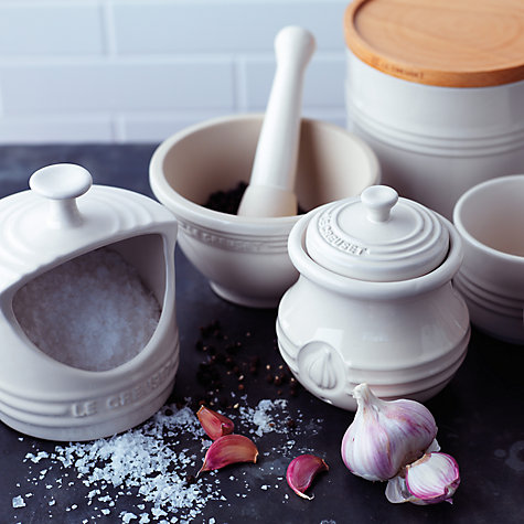 Buy Le Creuset Stoneware Garlic Pot Online at johnlewis.com