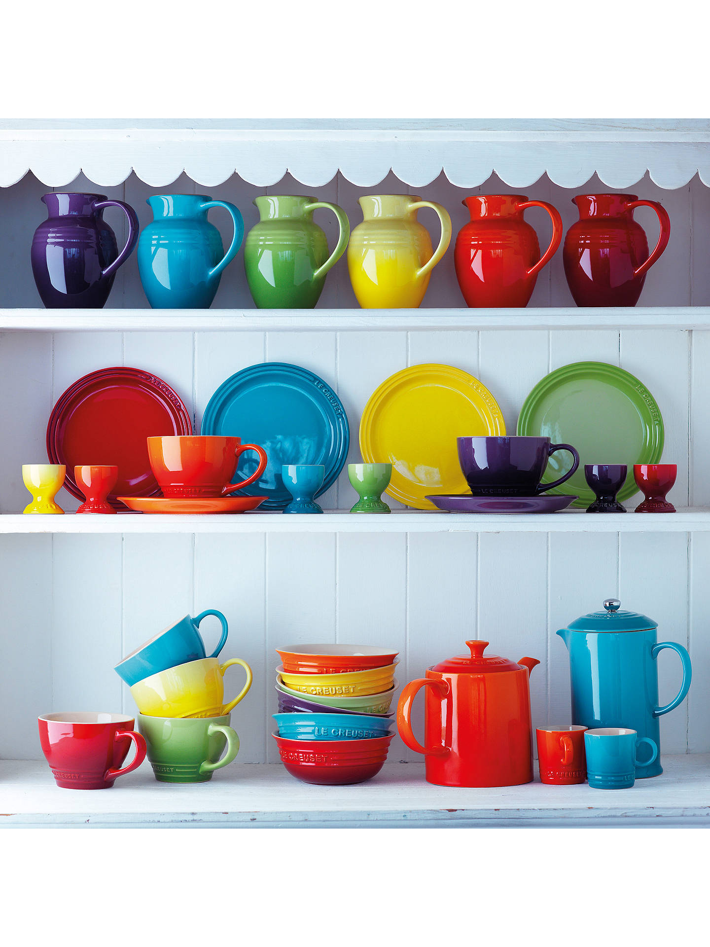 BuyLe Creuset Rainbow Mugs, 350ml, Set of 6, Assorted Online at johnlewis.com