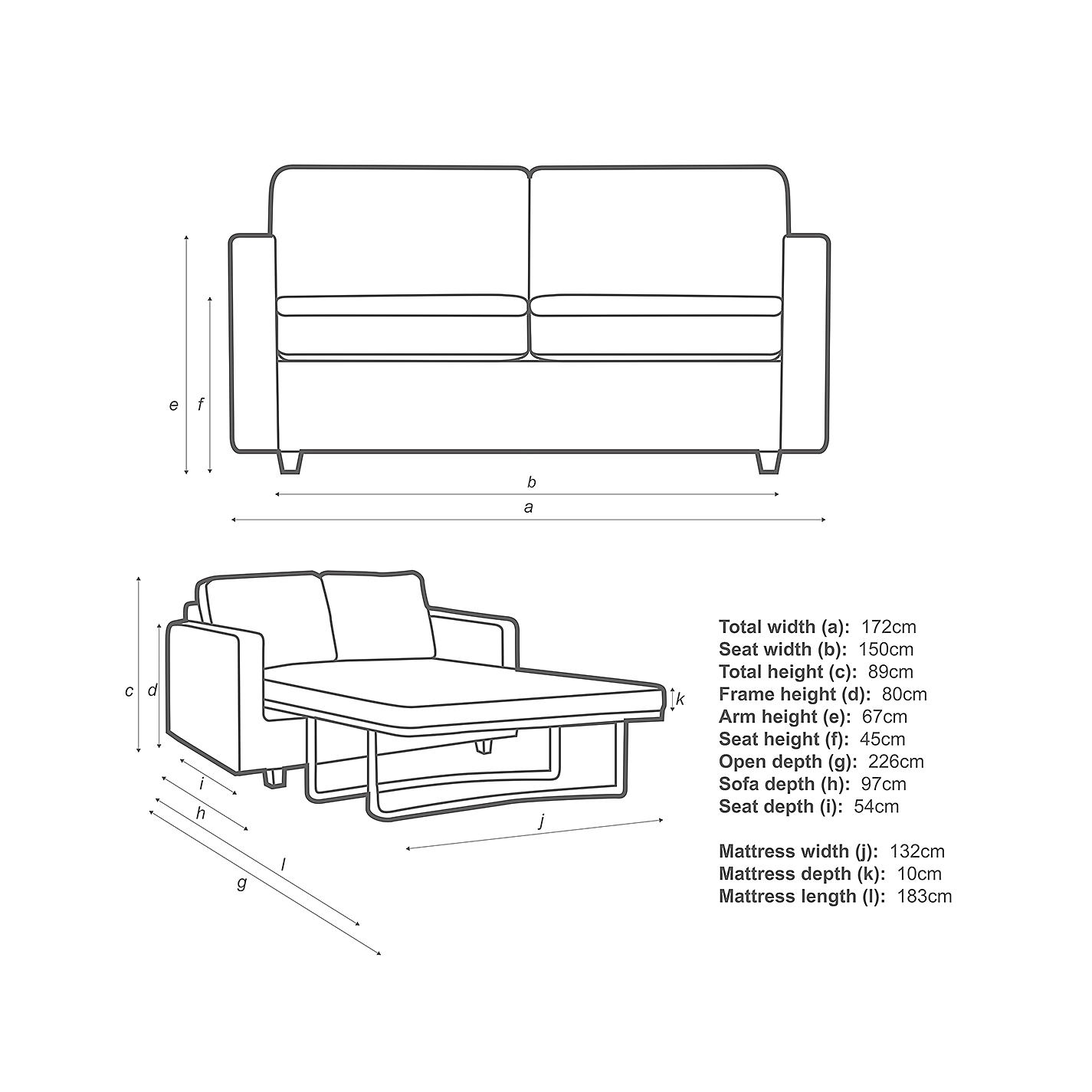 Sofa Seat Height buy john lewis barlow 2 seater small sofa bed with pocket sprung