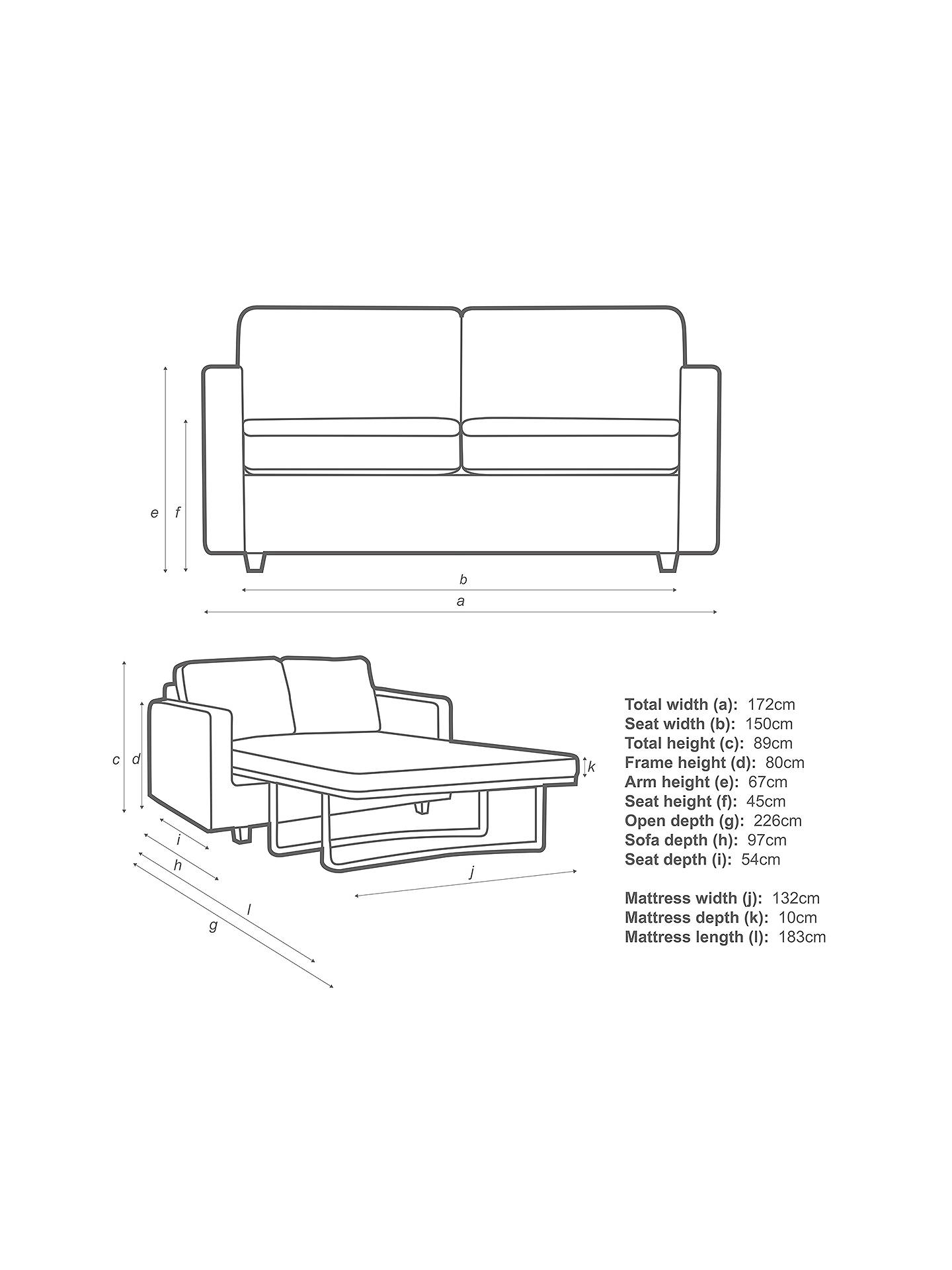 Enjoyable John Lewis Partners Barlow Small 2 Seater Sofa Bed With Pocket Sprung Mattress Erin Midnight Machost Co Dining Chair Design Ideas Machostcouk