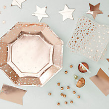 Buy Ginger Ray Rose Gold Partware Range Online at johnlewis.com