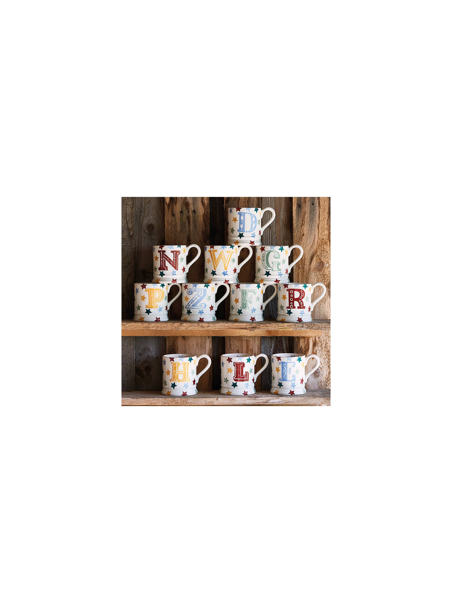 BuyEmma Bridgewater Polka Stars Alphabet Mug, V, 310ml Online at johnlewis.com