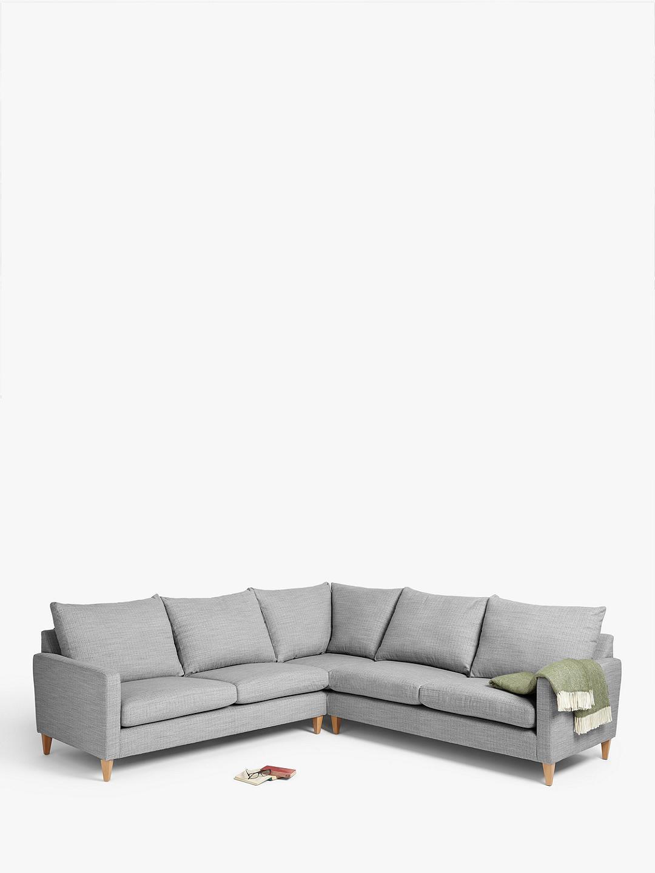 John Lewis Partners Bailey Fixed Cover Corner Sofa At John Lewis