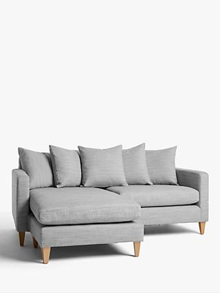 John Lewis & Partners Bailey Scatter Back LHF Chaise End Sofa