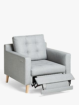 John Lewis & Partners Draper Motion Armchair with Footrest Mechanism